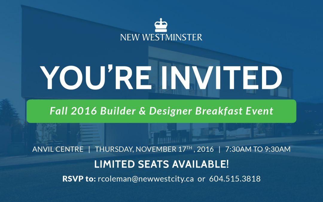 Fall 2016 Builder & Designer Breakfast