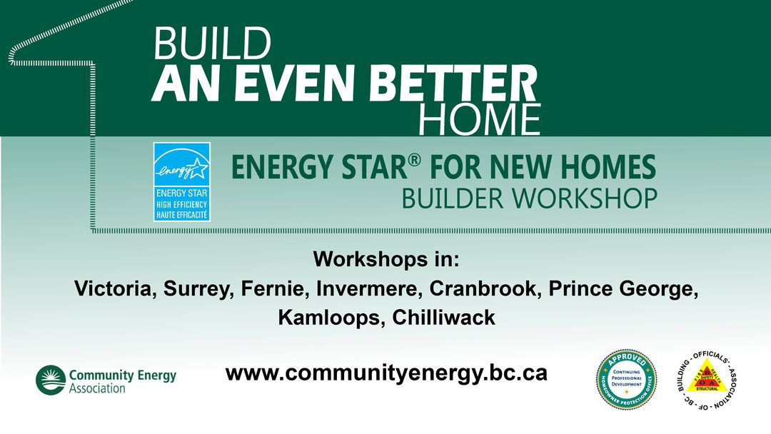 Builder Workshops from Community Energy Association