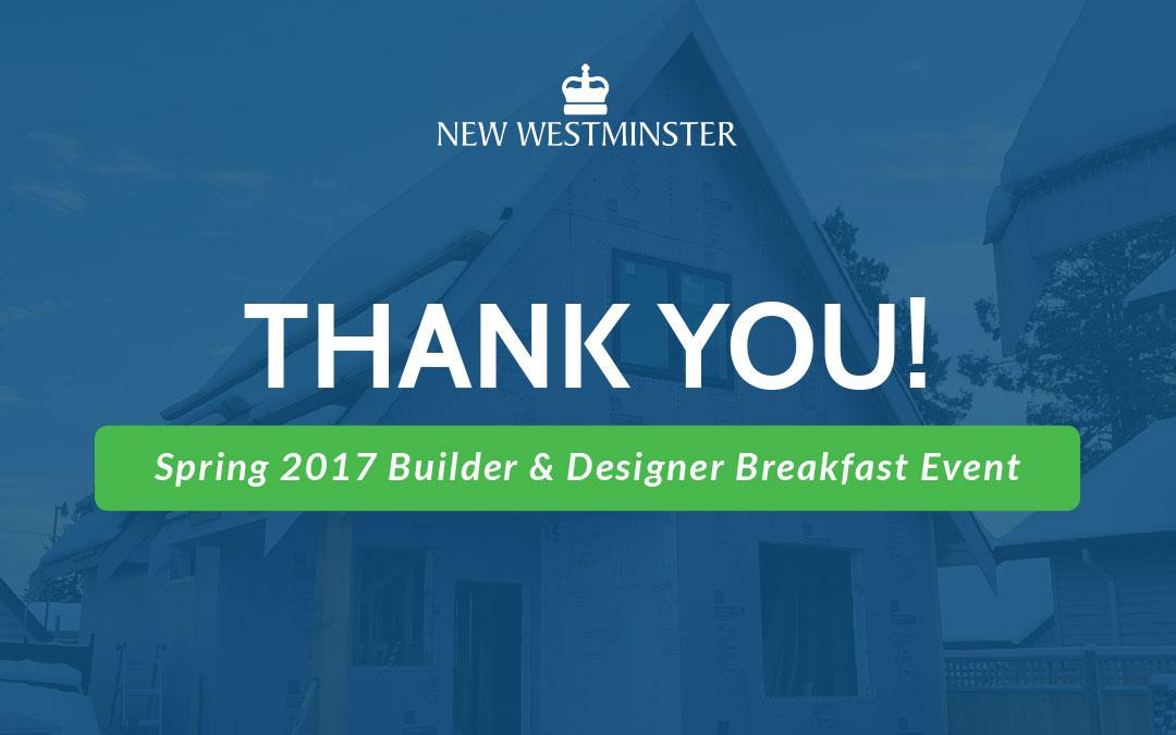 Presentations from the Spring 2017 Builder & Designer Breakfast