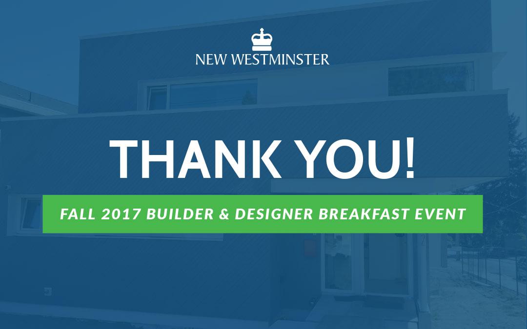Presentation From The Fall 2017 Builder & Designer Breakfast