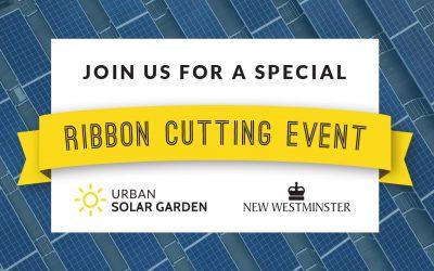 Urban Solar Garden Ribbon Cutting Event