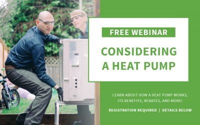 Free Webinar – Considering a Heat Pump